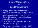 energy conservation load management