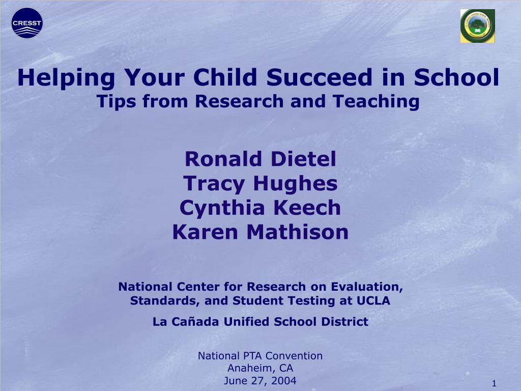 helping your child succeed in school tips from research and teaching l.