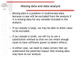 missing data and data analysis