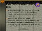 final words on analyzing survey data