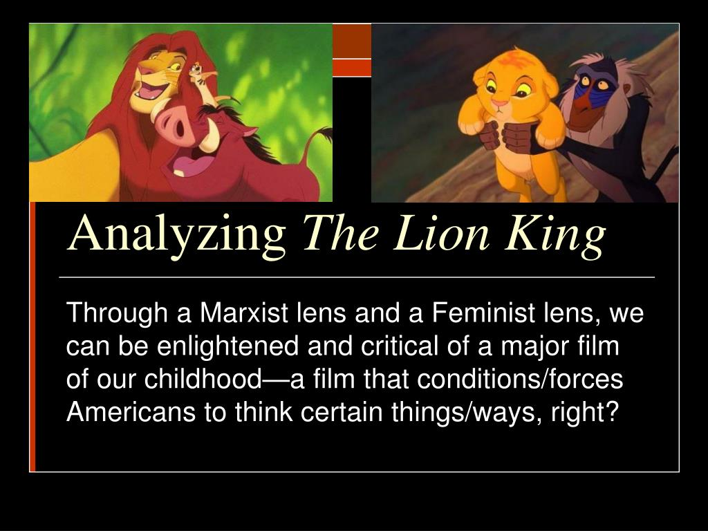 analyzing the lion king l.