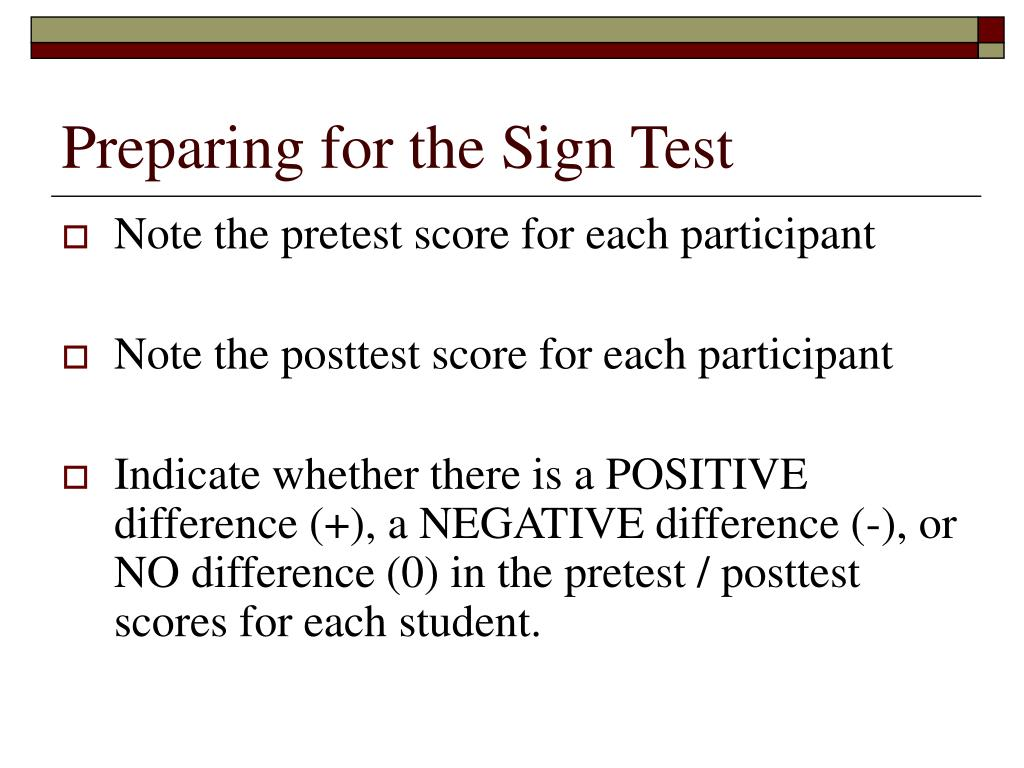 Preparing for the Sign Test