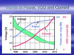 trends in power vdd and current