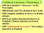 caribbean literature chronology 1