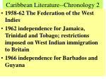 caribbean literature chronology 2