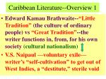 caribbean literature overview 1