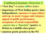 caribbean literature overview 2