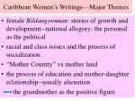 caribbean women s writings major themes