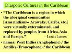 diasporic cultures in the caribbean