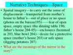 narrative techniques space