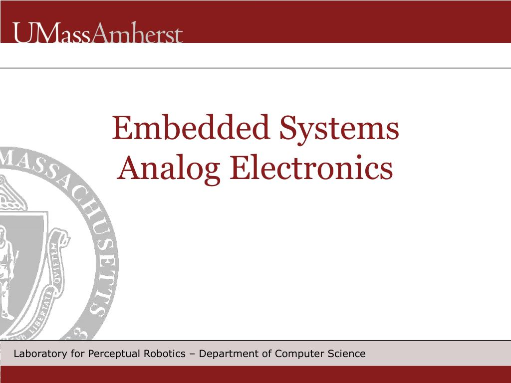 embedded systems analog electronics l.