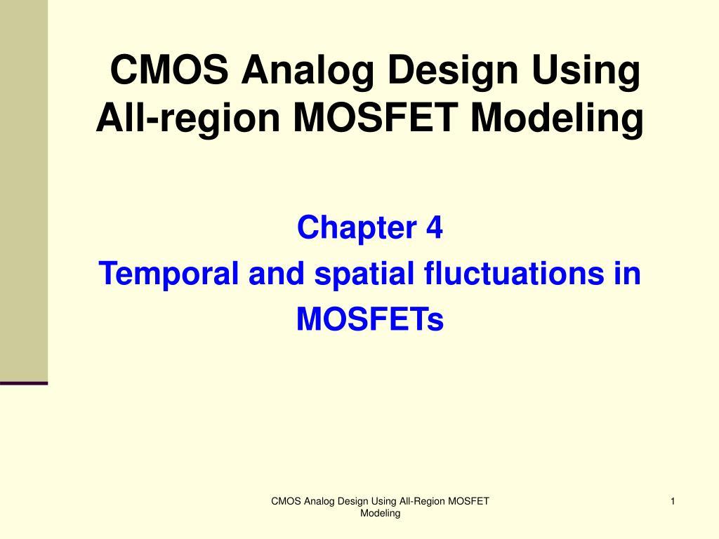 cmos analog design using all region mosfet modeling l.