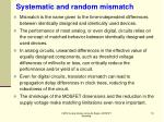 systematic and random mismatch