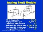 analog fault models