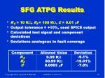 sfg atpg results