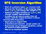 sfg inversion algorithm