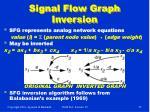 signal flow graph inversion