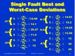 single fault best and worst case deviations