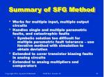 summary of sfg method