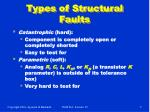 types of structural faults