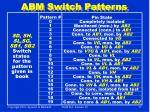 abm switch patterns