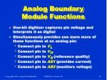 analog boundary module functions