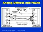 analog defects and faults