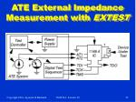 ate external impedance measurement with extest