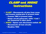 clamp and highz instructions
