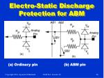 electro static discharge protection for abm