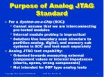 purpose of analog jtag standard