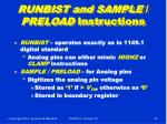 runbist and sample preload instructions
