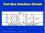 test bus interface circuit