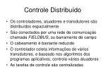 controle distribu do