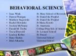 behavioral science23