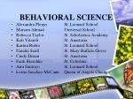 behavioral science24