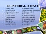 behavioral science25