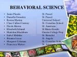 behavioral science26