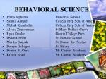 behavioral science27