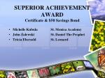 superior achievement award certificate 50 savings bond