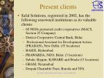 present clients