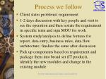 process we follow