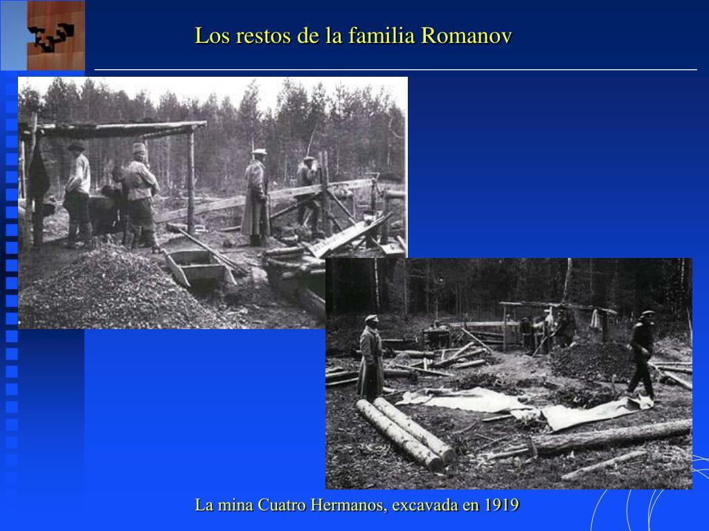 Los restos de la familia Romanov