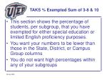 taks exempted sum of 3 8 1036