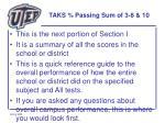 taks passing sum of 3 8 10