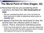 the moral point of view kagan 42