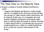 the total view vs the majority view
