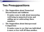 two presuppositions