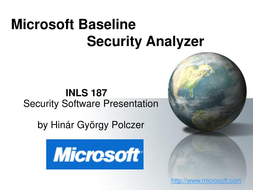microsoft baseline security analyzer l.