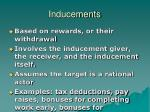 inducements